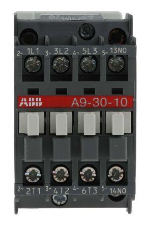 AF Range AF09 3 Pole Contactor, 3NO, 25 A, 4 kW, 230 → 240 V ac Coil, Screw Terminal