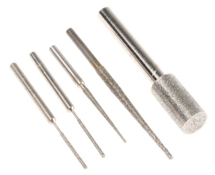 RS PRO 5 piece Diamond Grinding Pin Set