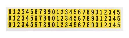 Yel symbol vinyl label,9.5mm numeric