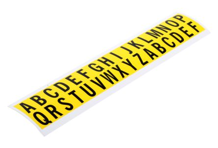 Yel symbol vinyl label,15.9mm alphabetic