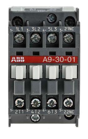 [GJFJ_338]  1SBL141001R8001 - A9-30-01 220V | ABB 3 Pole Contactor - 25 A, 230 V ac  Coil, AF Range, 3NO, 4 kW | RS Components | Abb 145 30 Contactor Wiring Diagram |  | RS Components