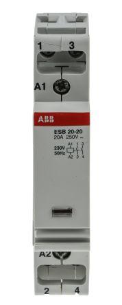 System M Pro ESB 2 Pole Contactor, 2NO, 20 A, 230 V ac Coil