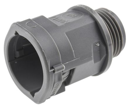 Straight Cable Conduit Fitting, PA 6 Grey 20mm nominal size IP66 M20 product photo