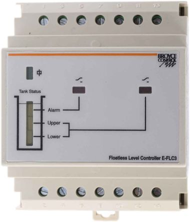 Broyce Control Level Controller DIN Rail Mount, 230 V ac 2 Input