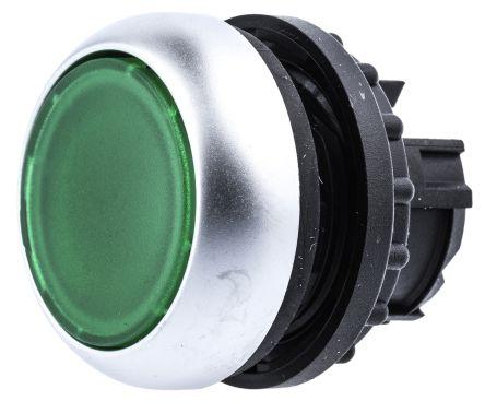 Eaton M22 Series, Green Push Button Head, Maintained, 22mm Cutout