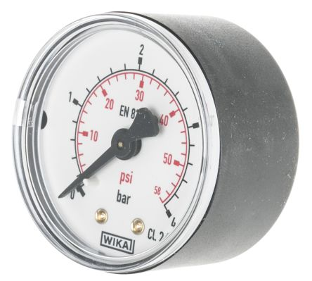 WIKA 7833896 Analogue Positive Pressure Gauge Back Entry 4bar, Connection Size R 1/4