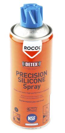Rocol Lubricant Silicone 400 ml DETEX PRECISION Silicone Aerosol,Food Safe