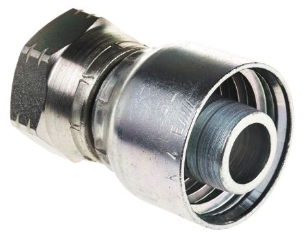 BSP 3/4 Female Straight Steel Crimped Hose Fitting, 215 bar product photo