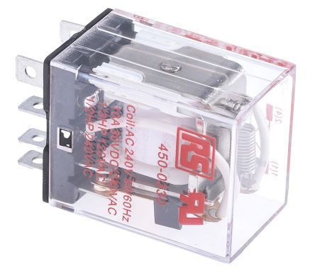 RS Pro DPDT NonLatching Relay Plug In 240V ac Coil 10 A General