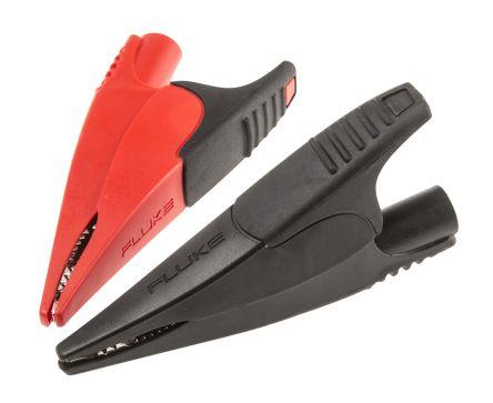 Red//Black Insulated Clip Jaws TL71 TL75 Fluke AC175 Alligator Clip Set