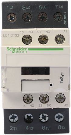 lc1dt32p7 schneider electric tesys d lc1d 4 pole contactor, 4no