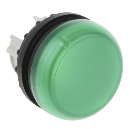 Eaton, M22, Flush Mount, Rear, Surface Mount Green Emergency Stop Push Button, 22.5mm Cutout, IP69K, Round