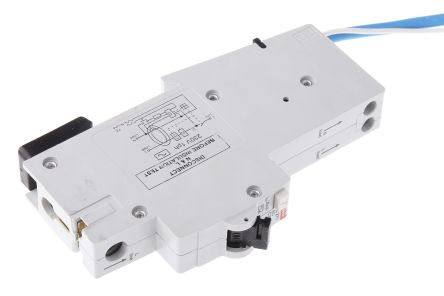 ABB 1+N Pole Type C Residual Current Circuit Breaker with Overload Protection, 25A DS271, 10 kA