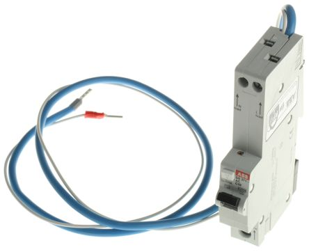ABB 1+N Pole Type C Residual Current Circuit Breaker with Overload Protection, 32A DS271, 10 kA