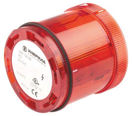 64310055 | Werma 643 Blitz-Licht Signalleuchte, Xenon rot, 24 V dc ...