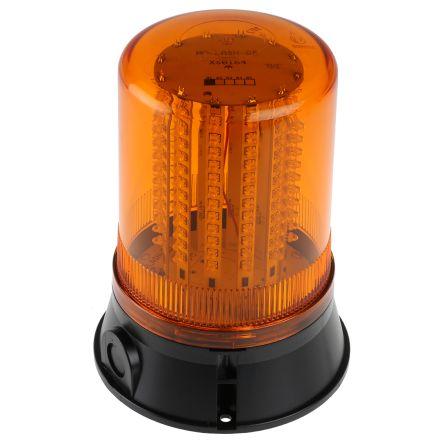 Qbs 0043 Klaxon Flashguard Xenon Amber Xenon Beacon 12 V Dc 24 V Dc Flashing Surface Mount Rs Components