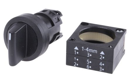3SB3 3 Position Selector Switch Head Standard Handle Black Momentary product photo