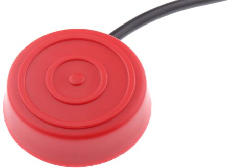 Foot Switch Bellow Round Switch, PVC Momentary Single Pole Single Throw (SPST) 50 mA @ 30 V dc IP67 product photo