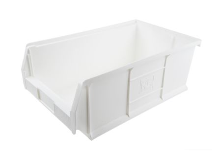 Rs Pro White Plastic Stackable Storage Bin 200mm X 315mm 510mm