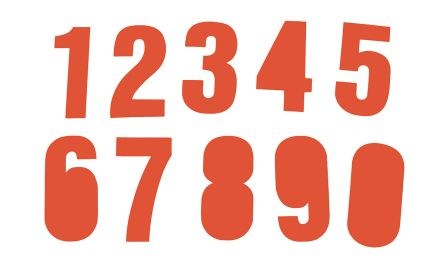 RS PRO Red Alphanumeric Lettering Label, 75mm