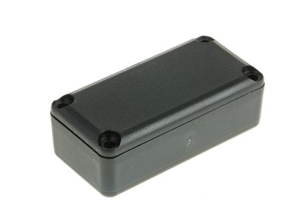 Black ABS Potting Box With Lid, 42 x 21 x 15mm product photo