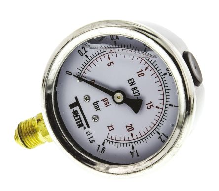 1613002 Analogue Positive Pressure Gauge Bottom Entry 1.6bar, Connection Size G 1/4 product photo