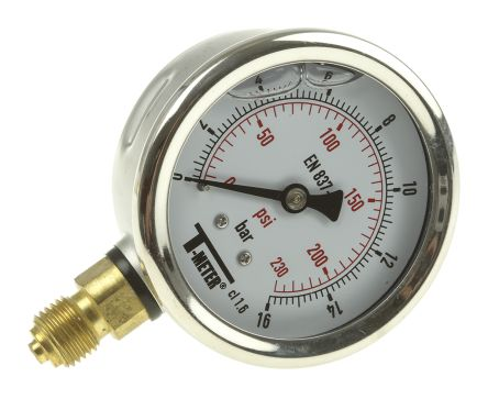 1613007 Analogue Positive Pressure Gauge Bottom Entry 16bar, Connection Size G 1/4 product photo