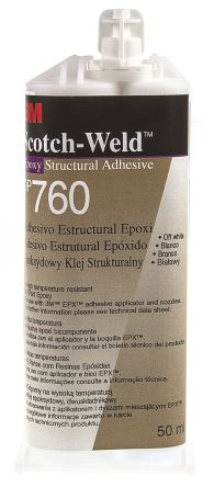 Scotch-Weld DP760 50 ml White Dual Cartridge Epoxy Adhesive for Various Materials product photo