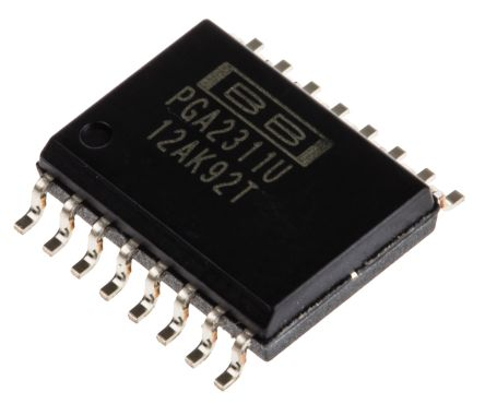 PGA2311U Texas Instruments, Audio Volume Control 2 +31.5dB → -95.5dB with 0.5dB 16-Pin SOIC