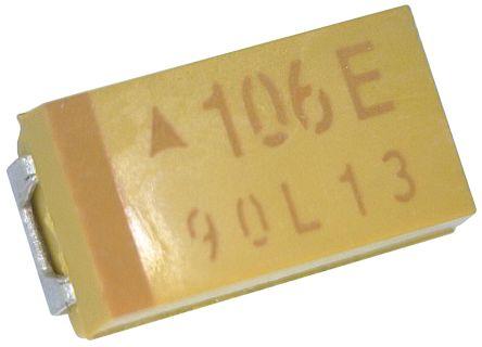 AVX 10μF 25V dc Tantalum Capacitor MnO2 Solid ±10% Tolerance TAJ Series