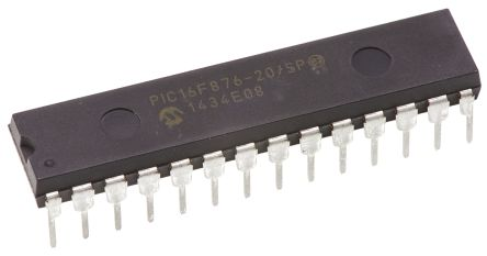 Microchip PIC16F876-20/SP, 8bit PIC Microcontroller, 20MHz, 256 x 8 words,  8K x 14 words Flash, 28-Pin SPDIP