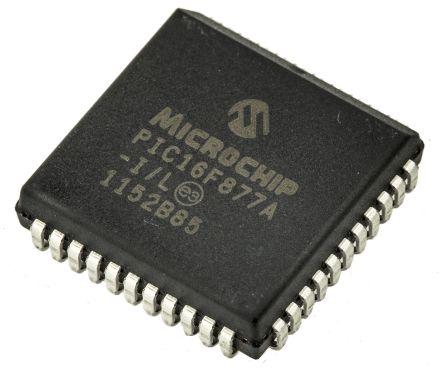 Microchip PIC16F877A-I/L, 8bit PIC Microcontroller, PIC16F, 20MHz, 14.3 kB, 256 B Flash, 44-Pin PLCC
