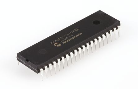 Microchip PIC16F877A-I/P, 8bit PIC Microcontroller, 20MHz, 14.3 kB, 256 B Flash, 40-Pin PDIP
