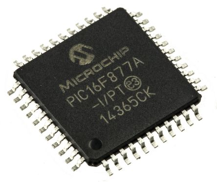 Microchip PIC16F877A-I/PT, 8bit PIC Microcontroller, PIC16F, 20MHz, 14.3 kB, 256 B Flash, 44-Pin TQFP