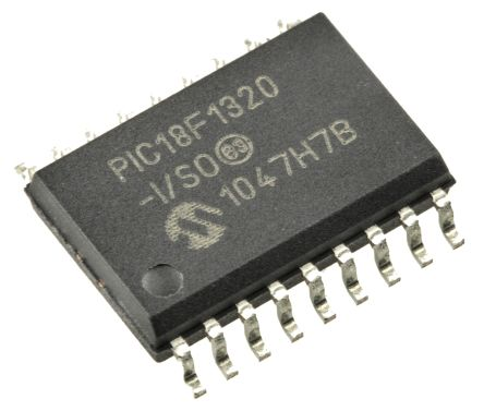 Microchip PIC18F1320-I//SO 8bit PIC Microcontroller 40MHz 8 kB 256 B Flash