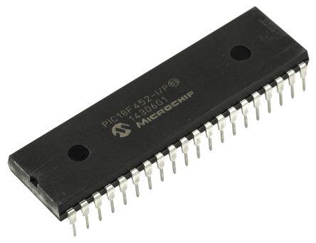 Microchip PIC18F452-I/P, 8bit PIC Microcontroller, 40MHz, 32 kB Flash, 40-Pin PDIP