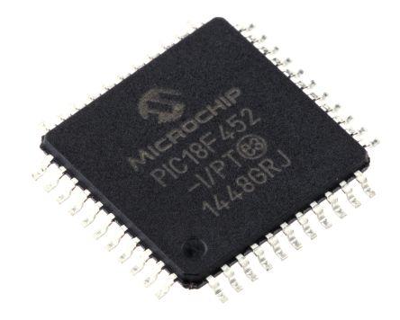 Microchip PIC18F452-I/PT, 8bit PIC Microcontroller, 40MHz, 32 kB Flash,  44-Pin TQFP