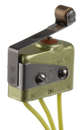 SPDT Roller Lever Mini Micro Switch, 7 A @ 250 V ac