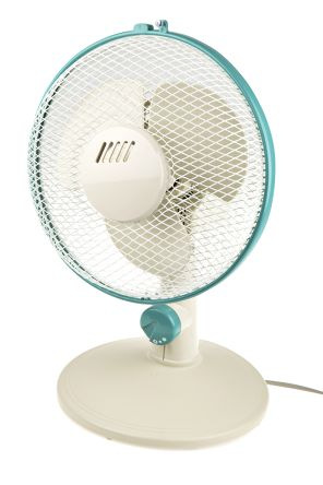 RS PRO Desk Fan 230mm blade diameter 2 speed 230 V ac with plug: Type G - British 3-pin