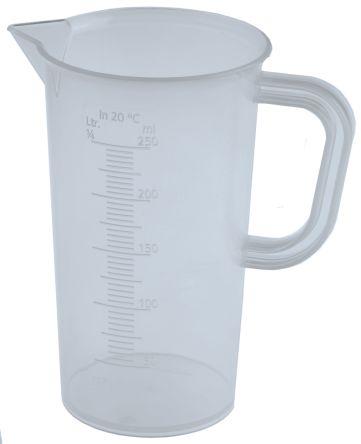 Polyprop moulded graduation jug,250ml
