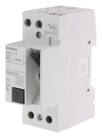 SIEMENS INTERRUTTORE DIFFERENZIALE 2P tipo AC 5SM3 312-0WM