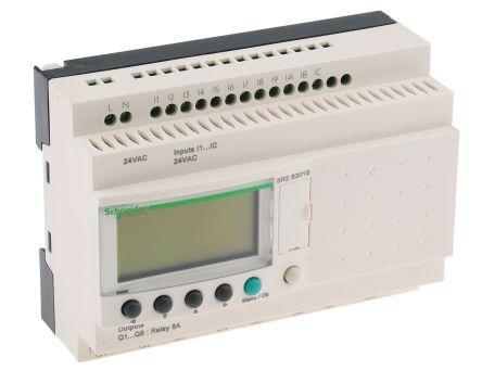 Sr2b201b Schneider Electric Zelio Logic Module 24 V Ac Relay 12 X Input 8 X Outputwith Display Rs Components