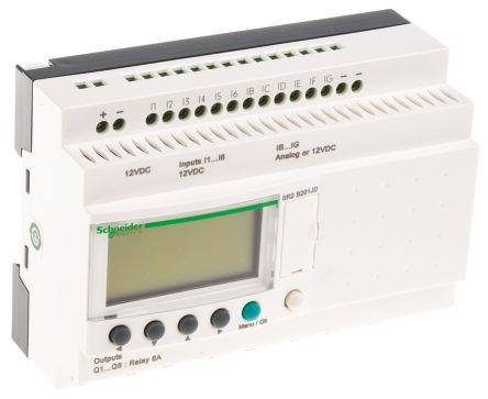 Schneider Electric Zelio Logic Module, 12 V dc Relay, 12 x Input, 8 x  Output With Display