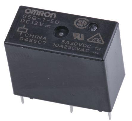 G5Q-1-EU 12DC | Omron SPDT Non-Latching Relay PCB Mount, 12V dc Coil on