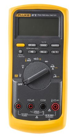 fluke 87 v eur fluke 87 digital multimeter handheld 10a ac 1000v rh uk rs online com fluke 23 manual pdf fluke 23 service manual