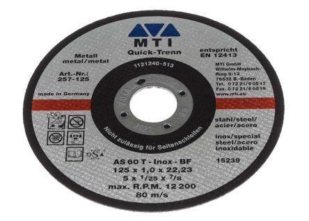MTI Corundum Cutting Disc, 125mm Diameter, 1mm Thick