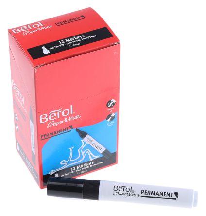 s0679510 berol berol fine medium tip black permanent marker 481