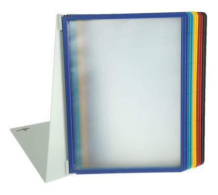 Durable Black, Blue, Green, Red, Yellow Desktop Document Holder