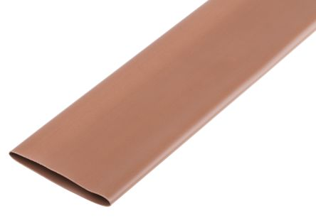 RS PRO Brown No 2:1, Heat Shrink Tubing 38mm Sleeve Dia  x 1 2m Length