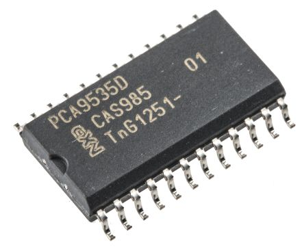 NXP PCA9535D,112, 16-Channel I/O Expander 400kHz, I2C, SMBus, 24-Pin SOIC